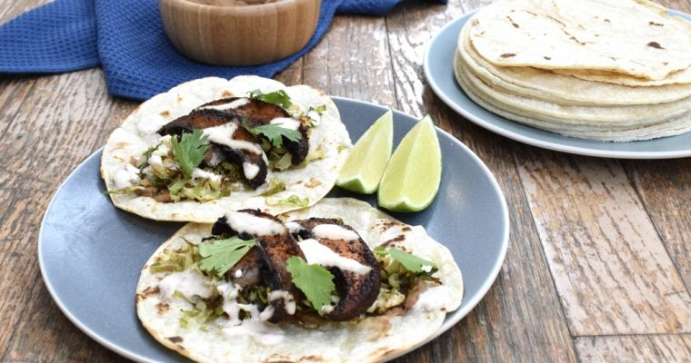 Love and Roasted Mushroom and Brussels Sprout Tacos