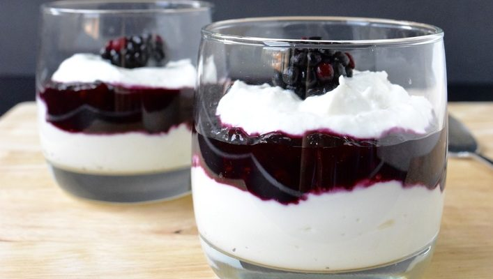 Love and Farmer Cheese Yogurt Parfait with a Frozen Berry Compote