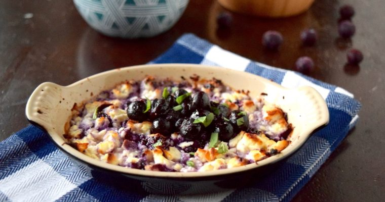 Love and ​Baked Feta with a Wild Blueberry Compote
