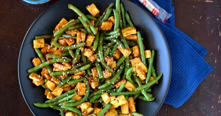 Love and Spicy Peanut Tofu & Green Beans